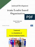 Team Leader Based Organization