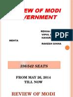 Review of Modi Government