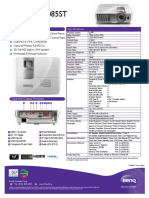 BenQ HT1085ST Spec Sheet Dec 2014
