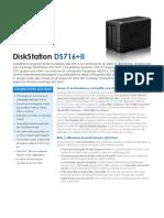 Synology DS716+II Data Sheet