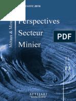 Perspectives Secteur Minier- T3 2016