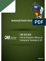 Sumario Executivo PAR 2016-2018