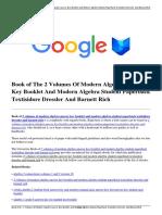 Download 2 Volumes of Modern Algebra Answer Key Booklet and Modern Algebra Student Paperback Textisidore Dressler and Barnett Rich.pdf
