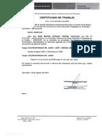 Certificado de Trabajo Jose Saravia Ticona