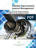 Aircraft Reliability Improvement & Maintenance Management in-House Training Proposal (2)