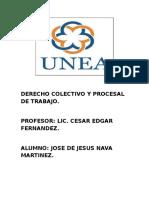 Derecho Colectivo y Procesal de Trabajo