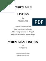 When Man Listens