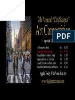 7th Annual Cityscapes 2017 Online Art Competition - Event Poster