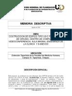 Memoria Descriptiva Taller de Cirugia Tapachula