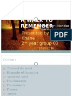 A Walk to Remember Presentation by Fadia Khane