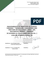 1.0 Procedimiento de Inspeccion de Tuberia Forzada de Acuerdo Al Asme Viii Div 1-Po-rt-001013-Asme Viii (1)