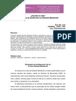 Ruiz M.J. Escribir La Vida. Estrategias de Autoficción en Eduardo Mendicutti1
