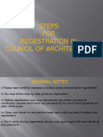 Registration council of architecture