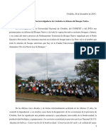 Pronunciamiento de Los Investigadores de Cordoba en Defensa de Los Bosques Nativos