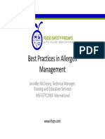 Allergen Management Best Practices