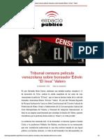 ONG Espacio Público recolecta firmas para que se levante censura a película El Inca