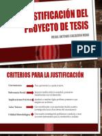 Criterios Justificación Del Proyecto de Tesis