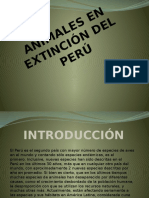 animales en extincindel peru