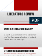 Lecture 6 - Use RC Reviewing the Literature