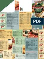 Pizza Restaurant Takeout Menu by Taradel.com