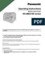 KX MB2100 English