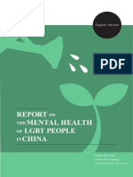 Report on the Mental Health of LGBT People in China