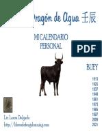Calendario Personal Buey