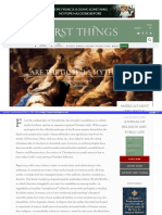 Https Www Firstthings Com Article 1996 04 Are-The-gospels-mythical
