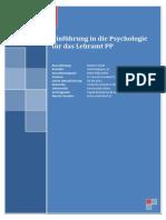 Einfuehrung in Die Psychologie Fuer Das Lehramt PP