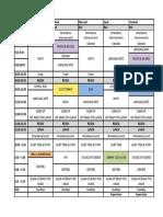 2016-2017 weekly schedule