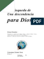La Busqueda de Una Descendencia Para Dios