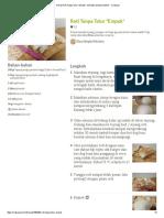 Resep Roti Tanpa Telur _Empuk_ Oleh Elza Simple Kitchen - Cookpad