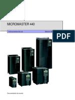 Instrucciones de Uso Micromaster 440