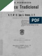 La Verdadera Mistica Tradicional, Fray Juan Gonzalez Arintero OP