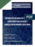 Produção de água - Características da água