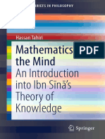 Tahiri, Hassan _ Mathematics and the Mind an Introduction Into Ibn Sīnā's Theory of Knowledge