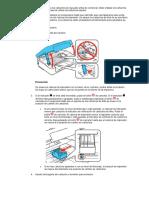 Cómo Retirar e Instalar Los Cartuchos de Tinta
