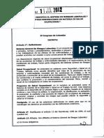 Ley 1562 de 2012 Riesgos laborales.pdf