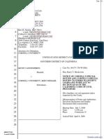 Vanginderen v. Cornell University et al - Document No. 13