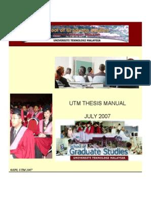thesis utm manual
