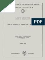 (International Centre for Mechanical Sciences 144) Hayrettin Kardestuncer (auth.)-Finite Elements Methods via Tensors_ Course held at the Department of Mechanics of Solids, June 1972-Springer-Verlag W.pdf