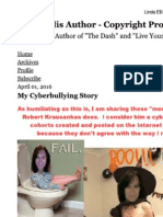 Linda Ellis Copyright - Paints Self as Victim of Cyber Bullying