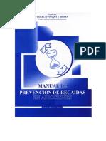 Manual de Prevencion de Recaidas EFREN en Adicciones PDF