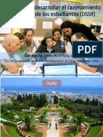 Developing Statistical Reasoning Dani Ben-Zvi Chile 2016 Spanish