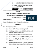 Fundamentals of Computer Information System Mbtm 018 Nmba 018