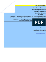 (P0)R C Columns Rectangular Biaxial Bending Section Design IS456