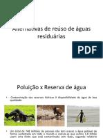 Reuso de água - Alternativas de Reúso de Águas Residuárias