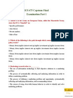 BUS 475 Capstone Final Examination Part 1 Questions & Answers - Studentwhiz