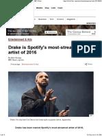 Spotify - Drake 2016