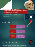 Sinterability of Strontium Hydroxyapatite Bioceramics and Its Mechanical